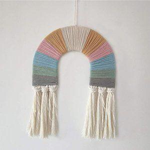 Macrame Rainbow Wall Hanging Boho Minimalist